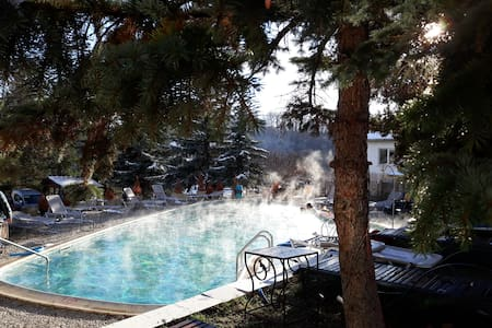 'Spa Away' close to Sofia. Outside hot spring pool