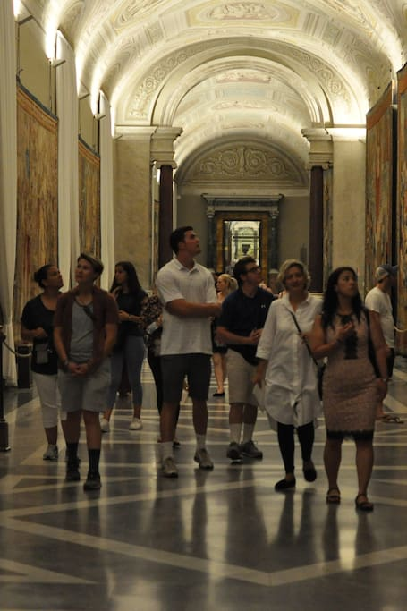 Leading our friends through a gallery