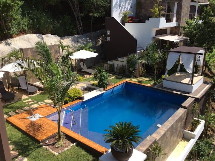 """Habitacion duplex Mazunte double room """"Casa Qi"""""""