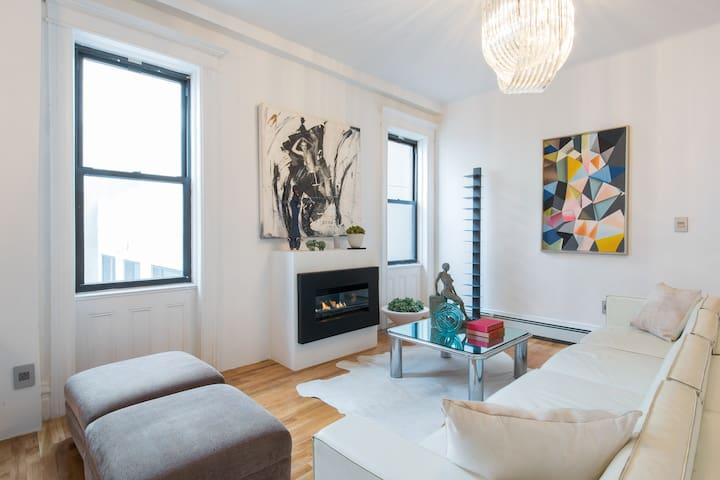 renovated apt with fireplace in Brooklyn!