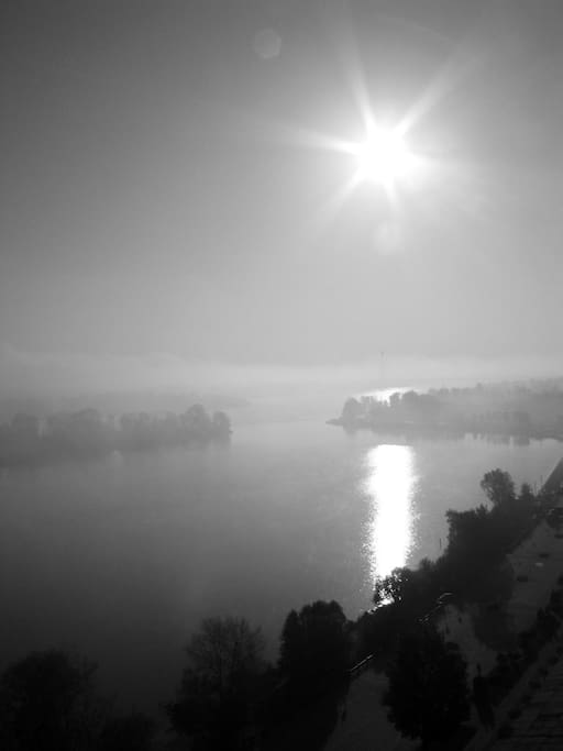 вид с балкона-туман-туман...