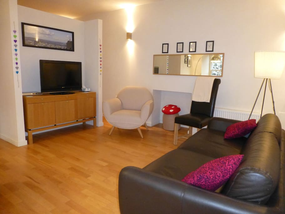Stylish lounge with ample seating, Freeview TV and Wi-Fi available to enjoy