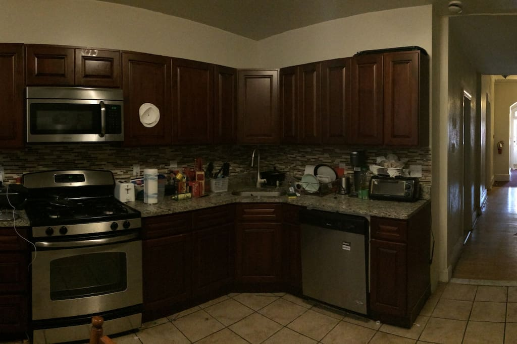 Newly renovated kitchen with 2 refrigerators