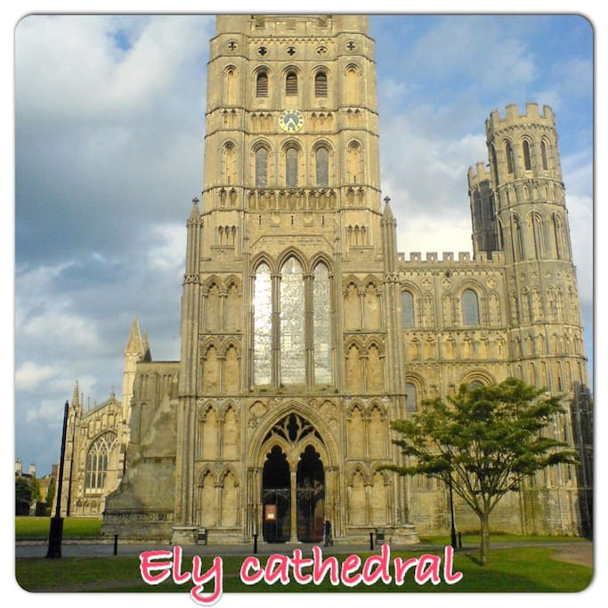 Ely cathedral (5mins via train/car)