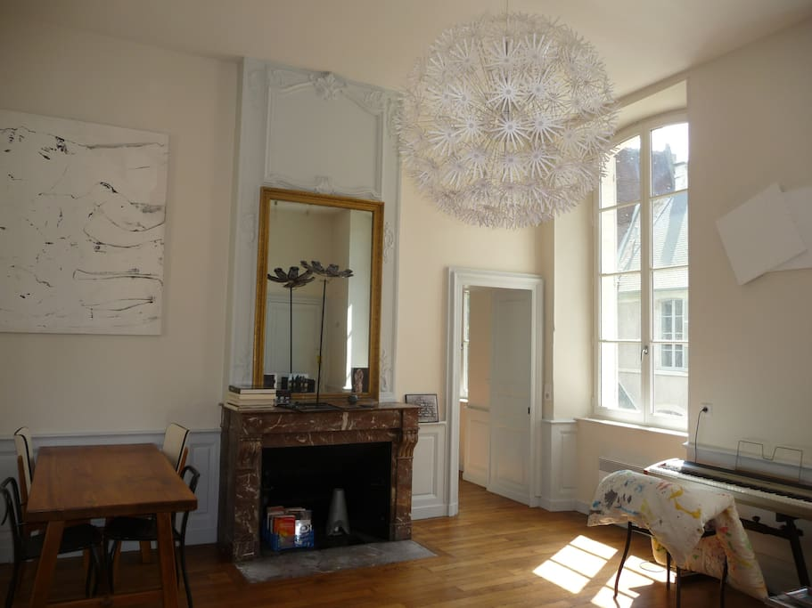 Appartement dans h tel particulier condominiums for rent for Appart hotel a bourges