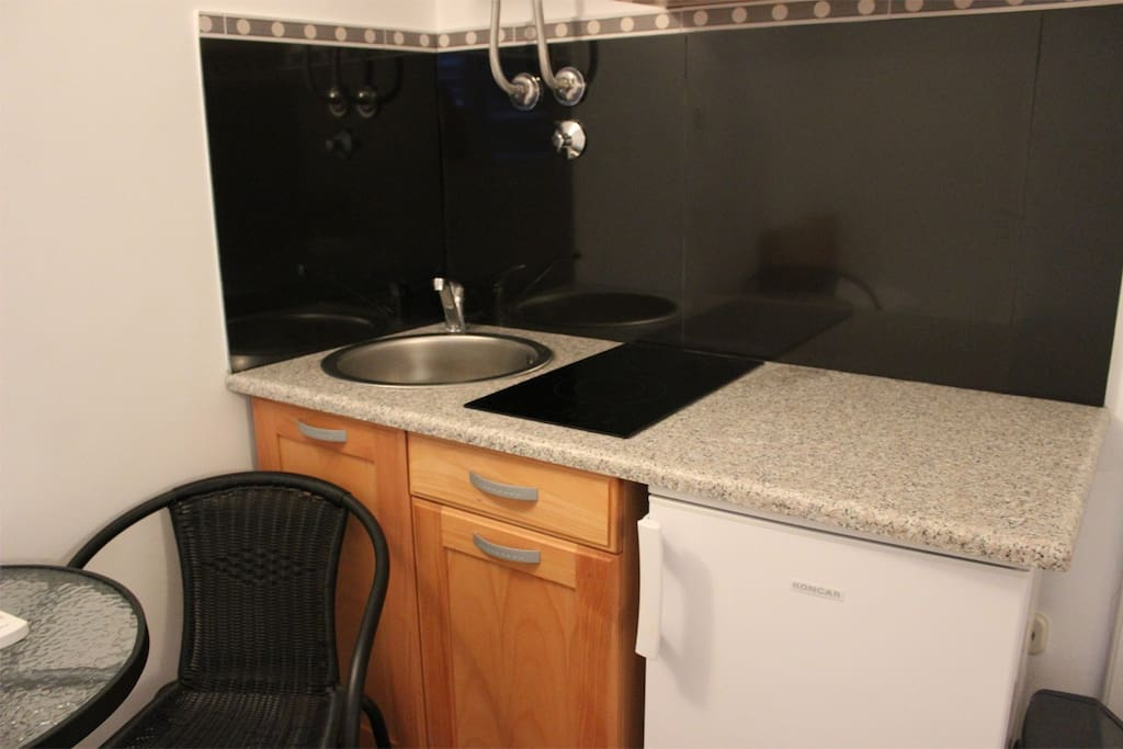 Kitchenette with all necessary equipment.