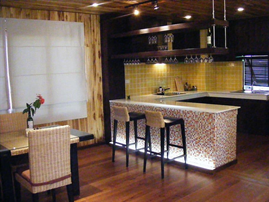 Modern designed kitchen & dining area
