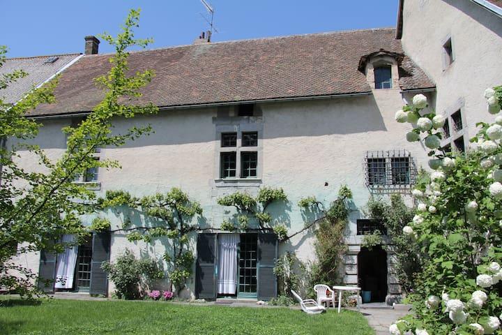 Ancienne demeure du 17ème siècle,pleine de charme. - Sousville - Rumah