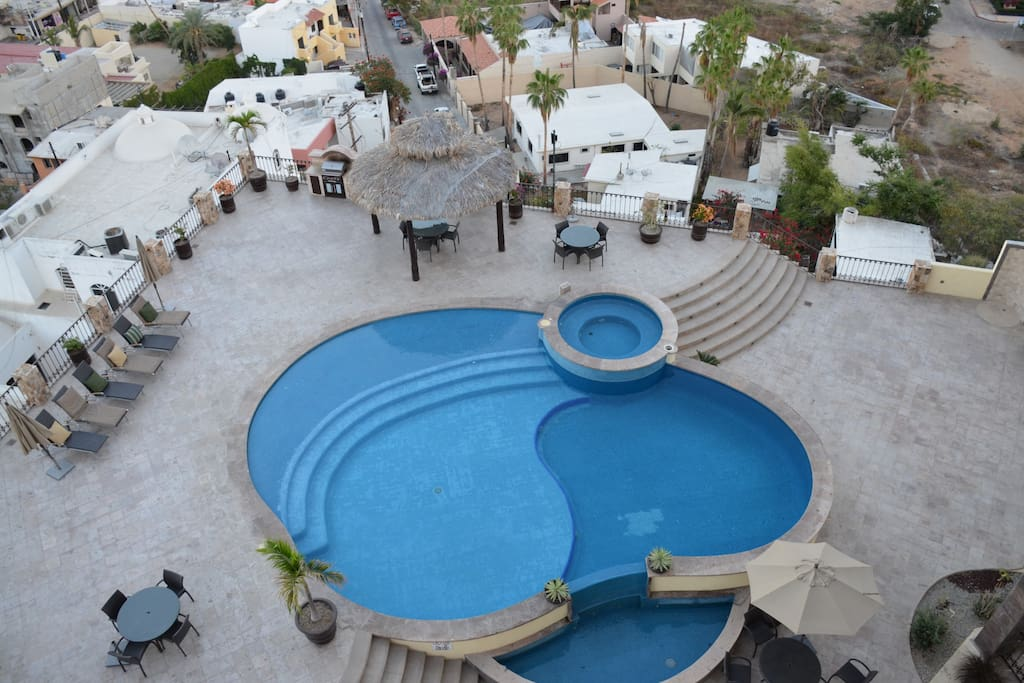 Our Pool & Hot Tub as seen from above
