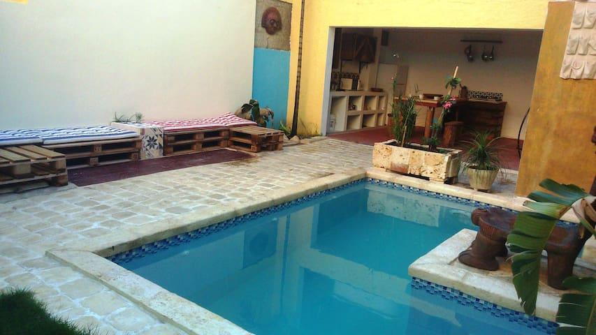 Platform bed#TV#Pool #WiFi#Colzone - Santo Domingo