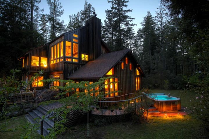 Moon View Room/Redwoods/Hot Tub - Mendocino - Dom
