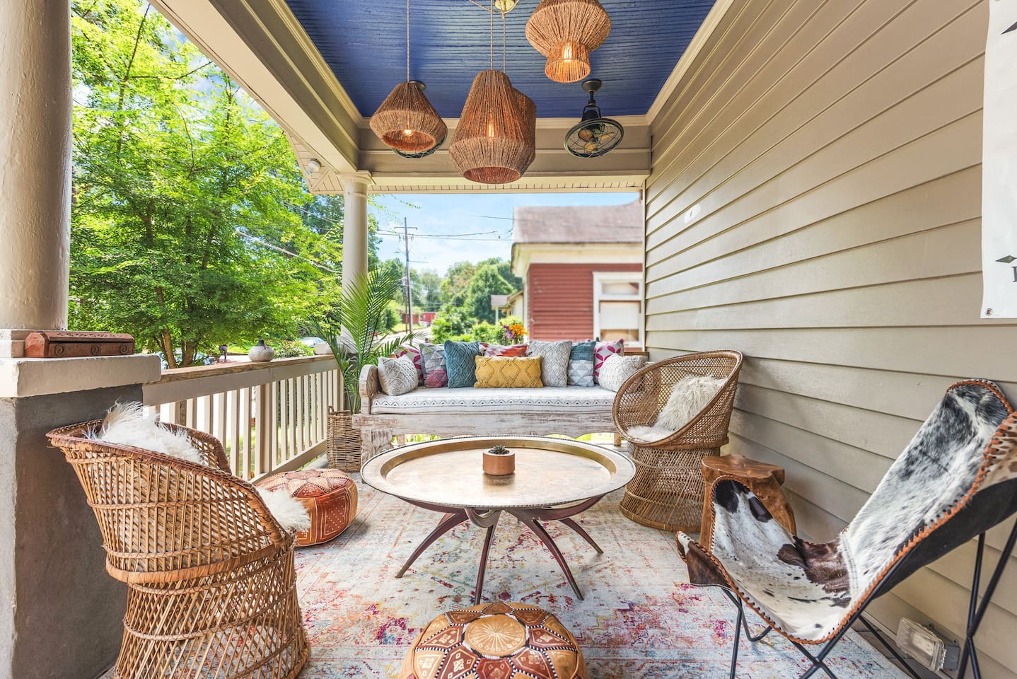 Escape to Northern Africa on our newly renovated and designed front porch!
