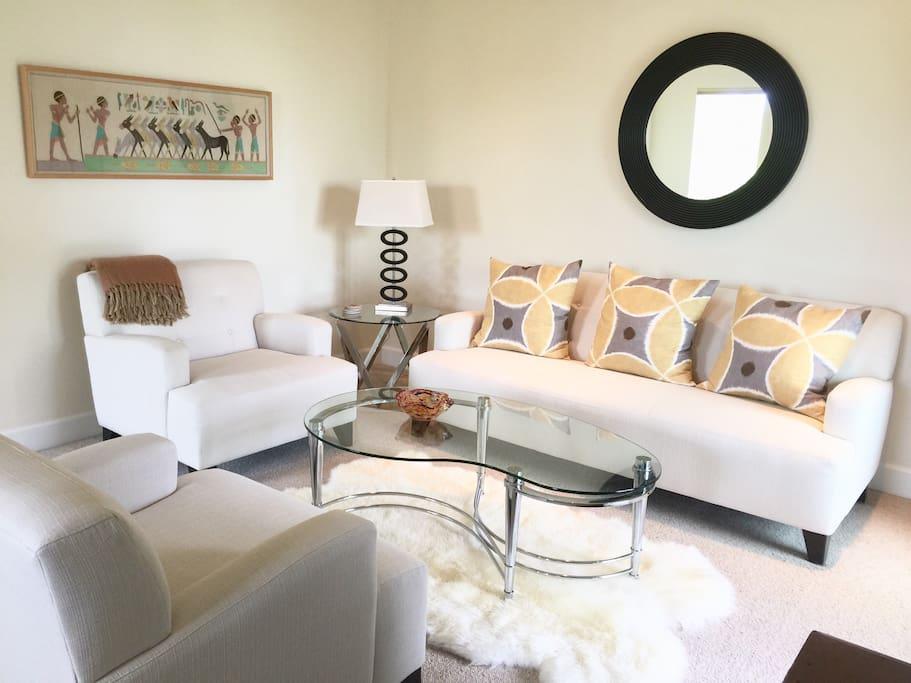 Suite living room area.