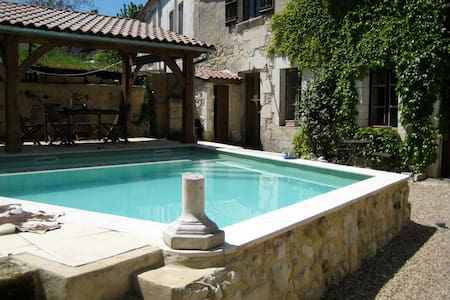Lovely Centre-ville 2 bed with pool - Tocane-Saint-Apre - Haus