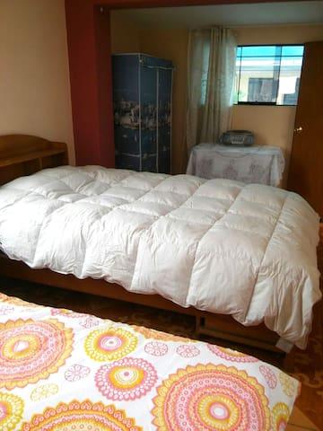 Habitaciones cómodas y tranquilas.