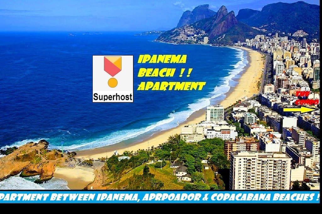 Only 3 blocks from both Ipanema & Copacabana Beaches