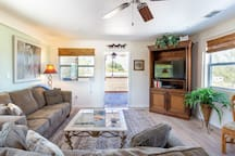 Feel right at home with a flat screen TV and tropical breezes...