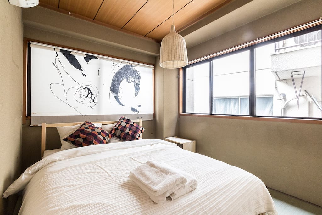Bedroom on the 1st floor with double bed