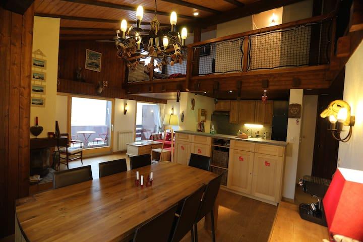 Grand Duplex de Charme, à 200m Télécabine Tracouet - Nendaz - Appartement