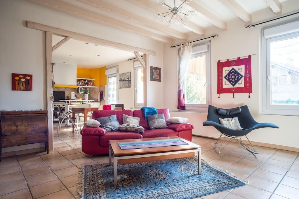 chambre double ou 2 lits annemasse maisons louer annemasse rh ne alpes france. Black Bedroom Furniture Sets. Home Design Ideas