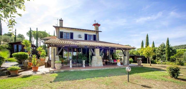Picturesque villa, garden, bio-design pool and gym