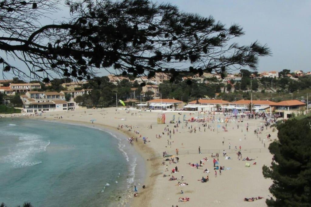 Notre plage : la plage du Verdon à La Couronne