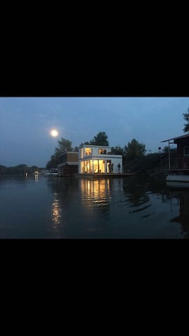 """Floating house, houseboat - """"Life Is 2 Good"""""""