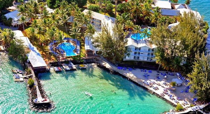 Trois îlets : 1 ou 2 STUDIOS dans hôtel*** CARAYOU