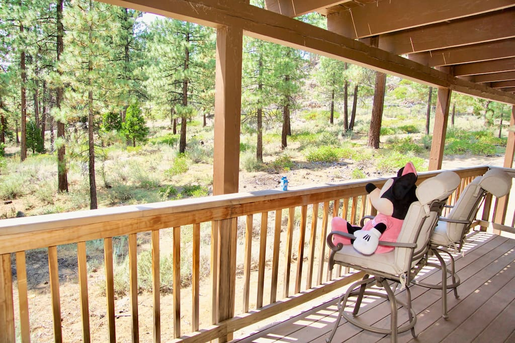 Private balcony with beautiful mini-forest view!