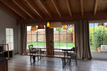 Hello,   We are 4 roomates living in a beautiful chalet in Signièse 10 minutes away from Sion and 25 minutes away from Crans Montana.  We offer a bedroom with a nice view on the mountains and the valley.