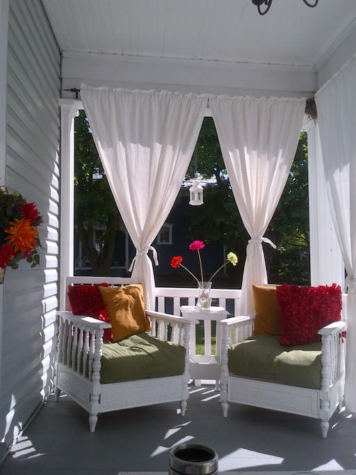 The Tea Room - Covered back porch to enjoy and always peaceful.