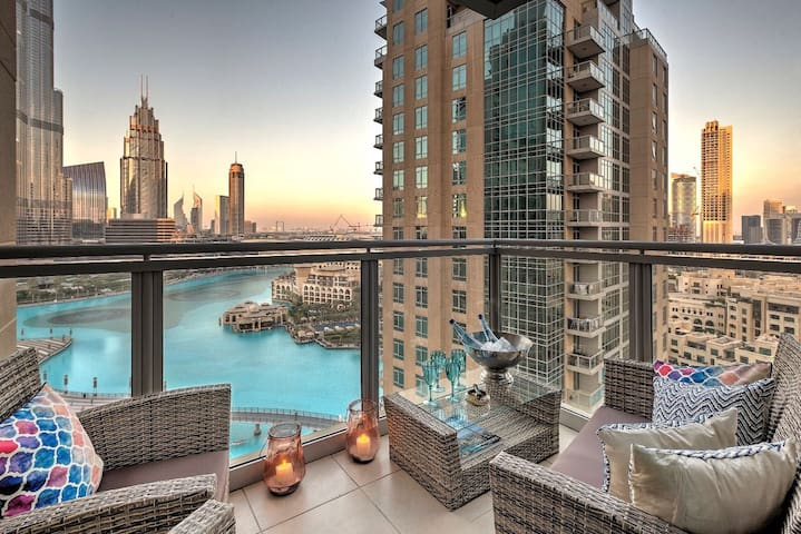 Extraordinary Burj Khalifa view- 2 BR Downtown - Dubai - Flat