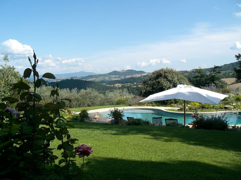 View from the pool facing Todi