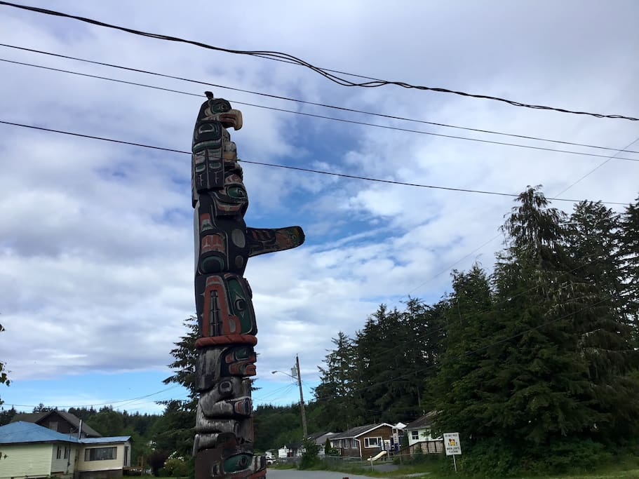 totem in front of the house