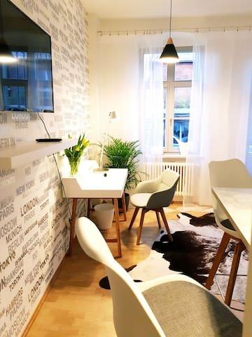 Style Apartment in mitten der Altstadt Dresdens..