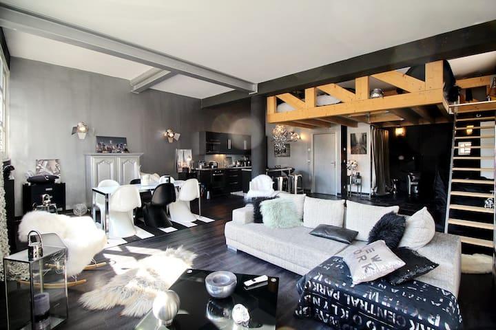 Loft moderne de 90 m2 au pays du Mont-Blanc