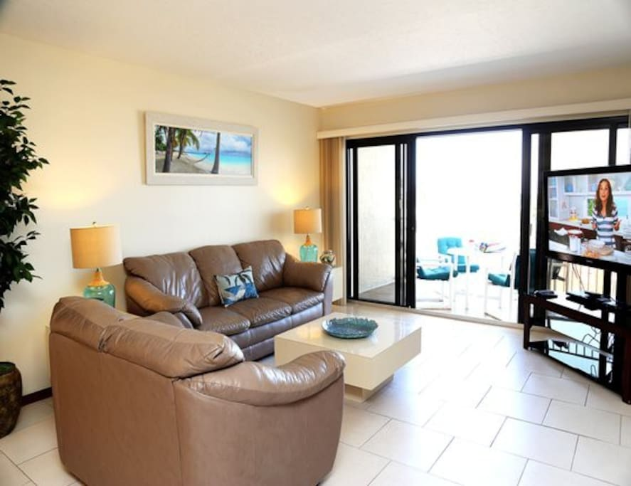 Living Room walks out to your private spacious balcony