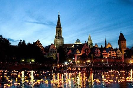 Ruhige, gut gelegene, schöne Wohnung + Pool - Neu-Ulm