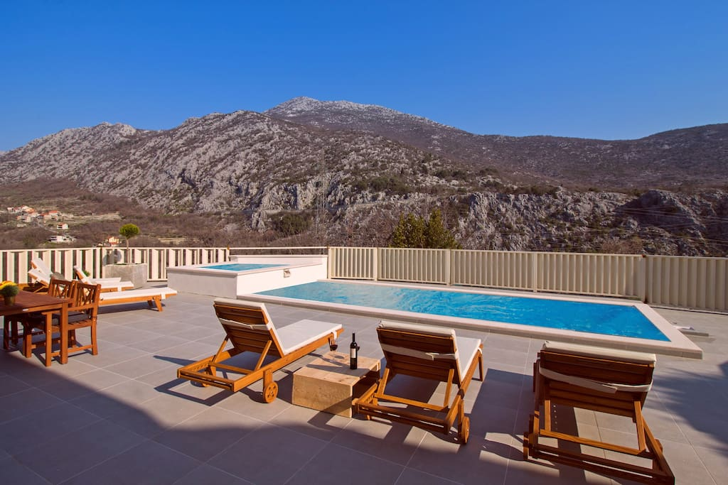 Spacious sun deck area with amazing landscape and absolute privacy