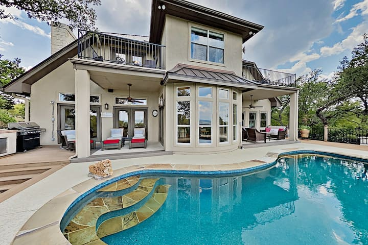 Sacred Vista | Opulent Hill Country Home with Pool