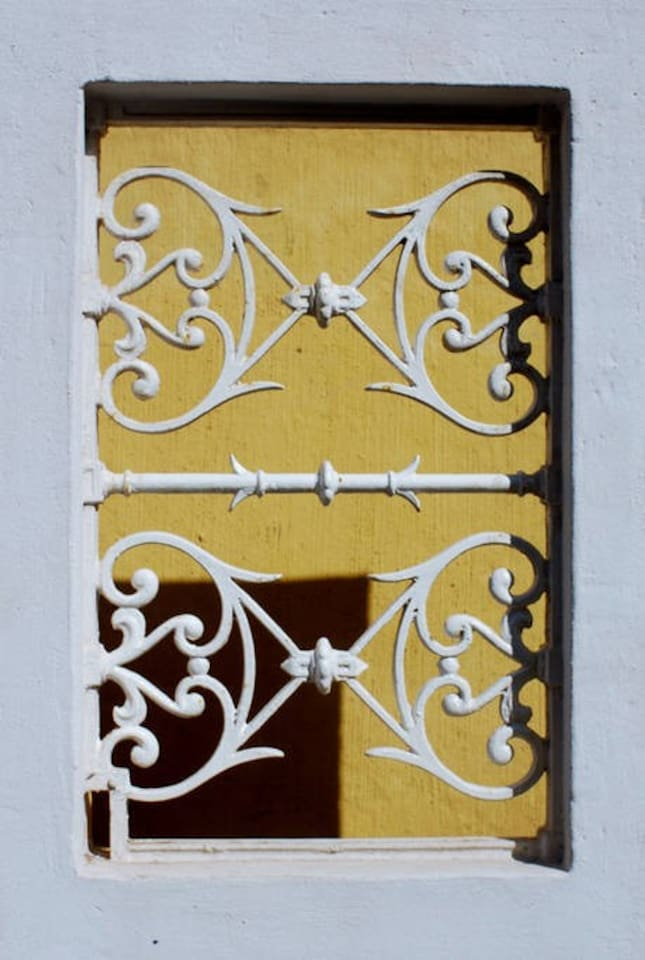 Wrought Iron openwork in the Courtyard