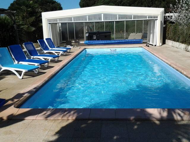 Gîte 4 pers piscine, spa, wifi - Meursac - บ้าน