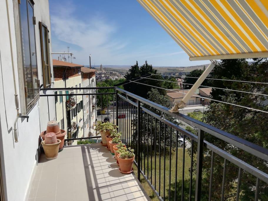 Balcone con vista panoramica.