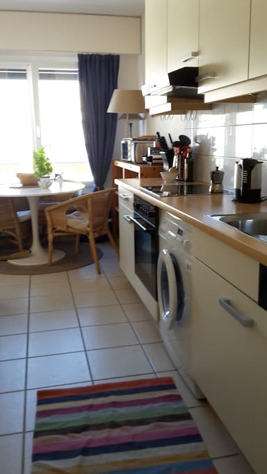 Fully equipped kitchen including dish washer, washing machine and drier