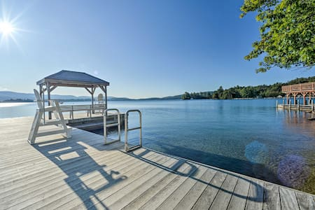 Charming Home Steps from Lake George Private Beach