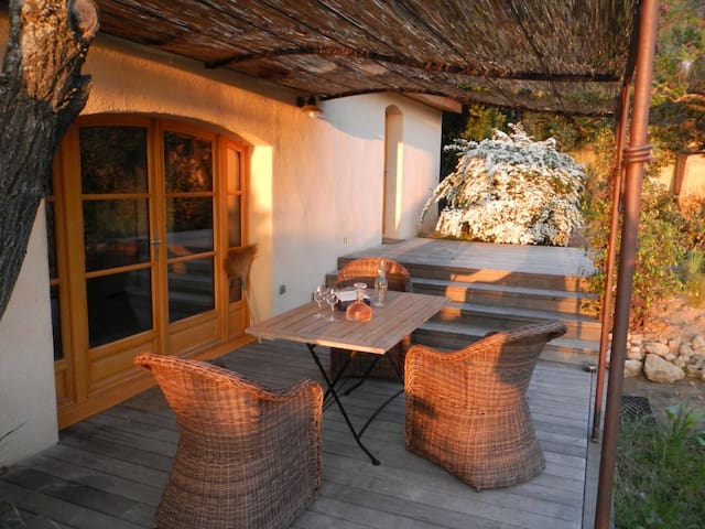 Sunny bastide and swimming pool