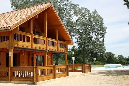 Summer lodge with private pool - Montagnac-sur-Lède - Chalet