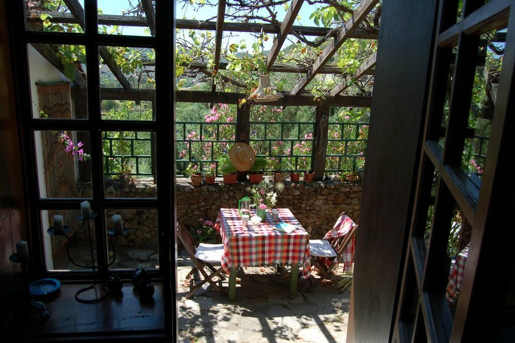 Inside terrace, favoured for breakfast