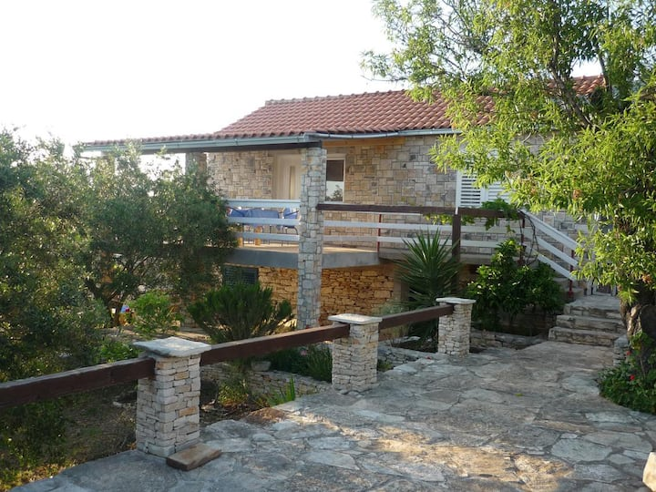 Two bedroom house with terrace and sea view Cove Stratinčica, Korčula (K-13430)