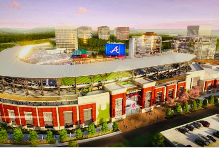 The ATL Braves APT! Walk 2 Suntrust Park! Sleeps 6